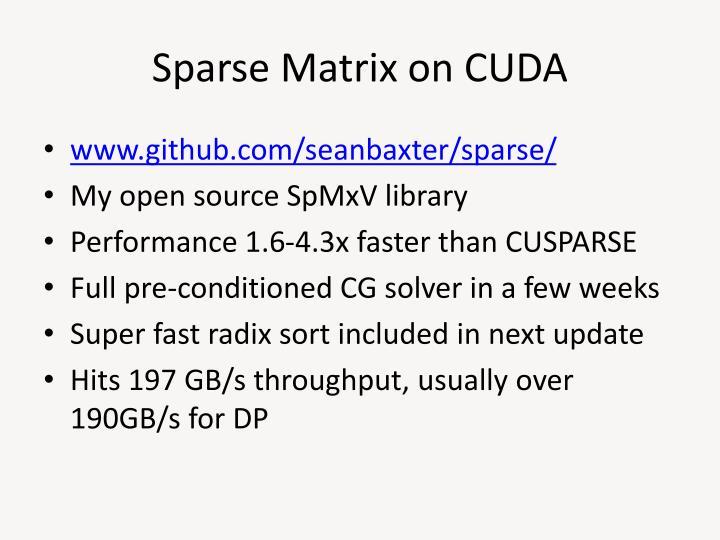 Sparse Matrix on CUDA