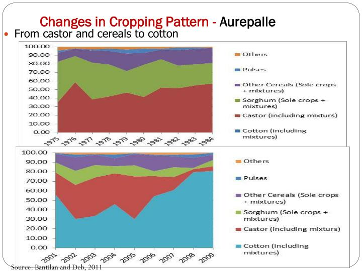 Changes in Cropping Pattern -