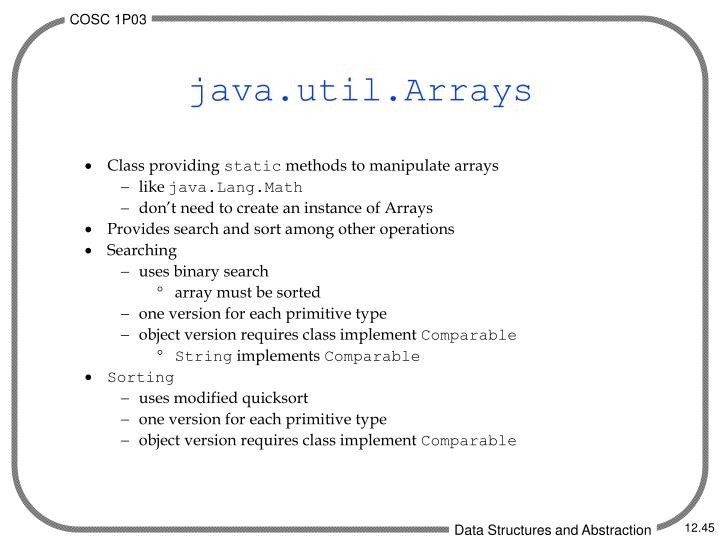 java.util.Arrays