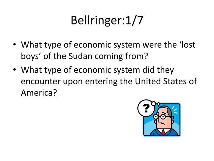 Bellringer:1/7