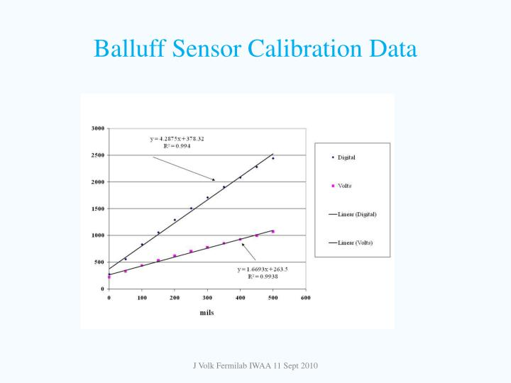 Balluff Sensor Calibration Data