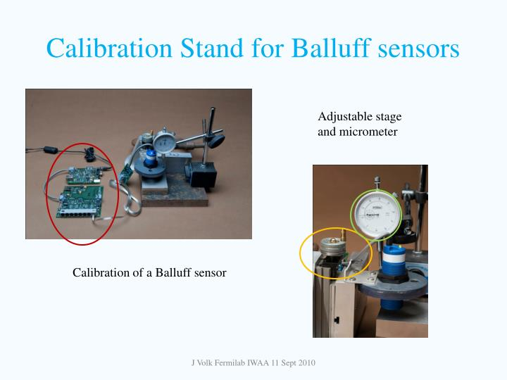Calibration Stand for Balluff sensors