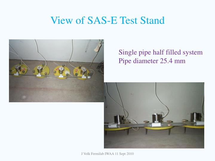 View of SAS-E Test Stand