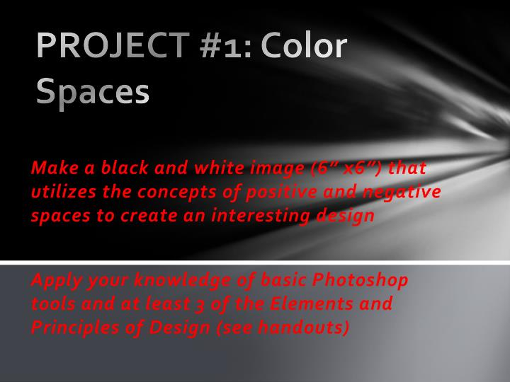 Project 1 color spaces