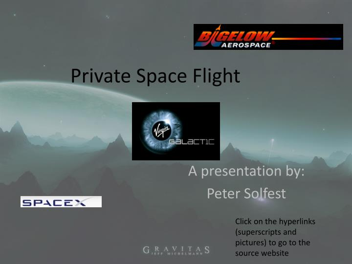 Private space flight