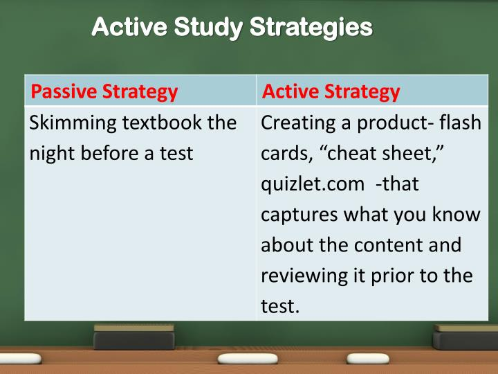 Active Study Strategies