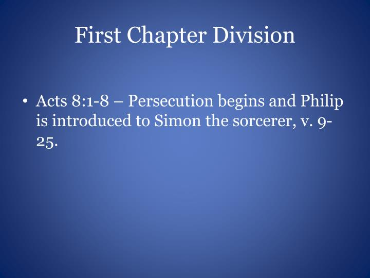 First chapter division