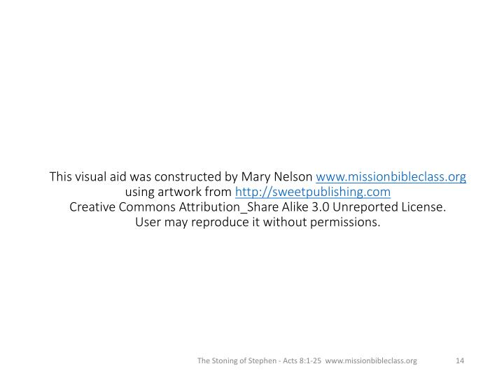 This visual aid was constructed by Mary Nelson