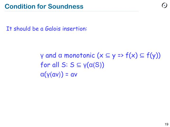 Condition for Soundness