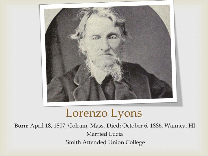 Lorenzo Lyons