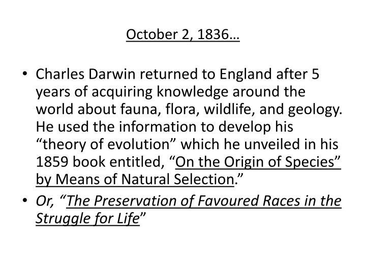 October 2, 1836…