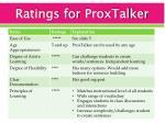 ratings for proxtalker