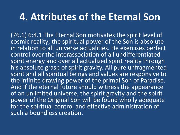 4. Attributes of the Eternal