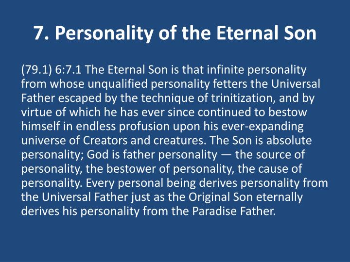 7. Personality of the Eternal