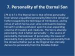 7 personality of the eternal son