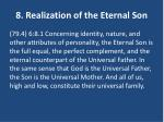 8 realization of the eternal son