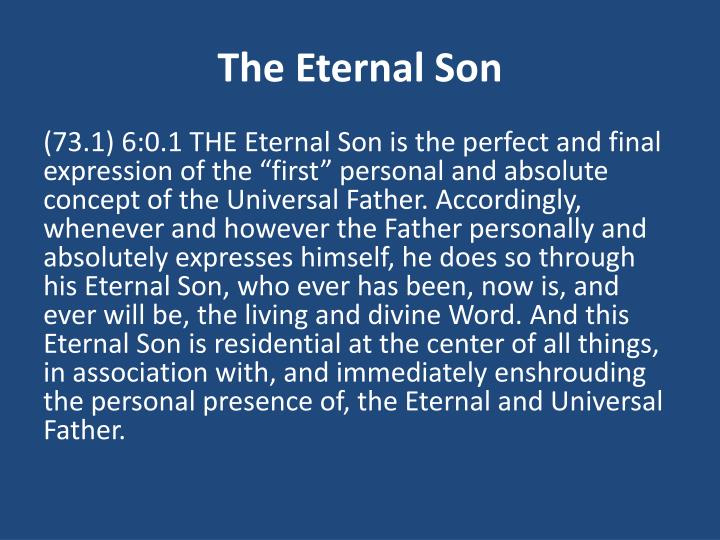 The eternal son