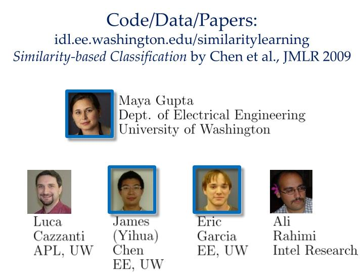 Code/Data/Papers: