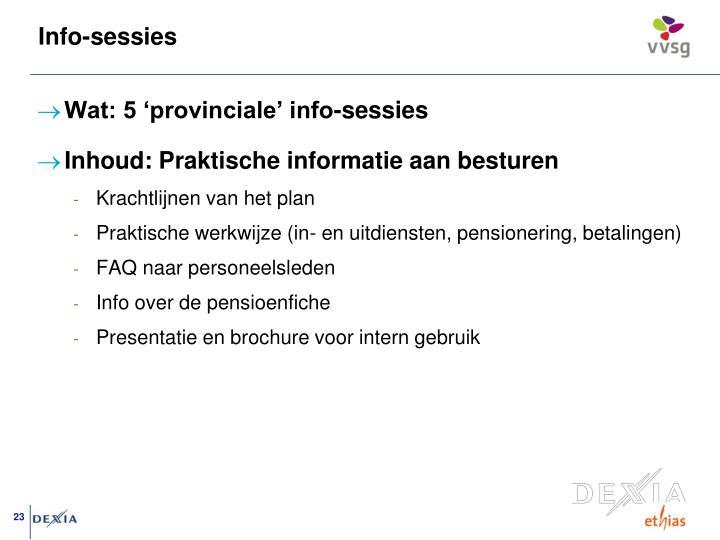 Info-sessies