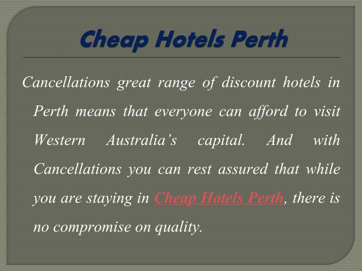 Cheap Hotels Perth