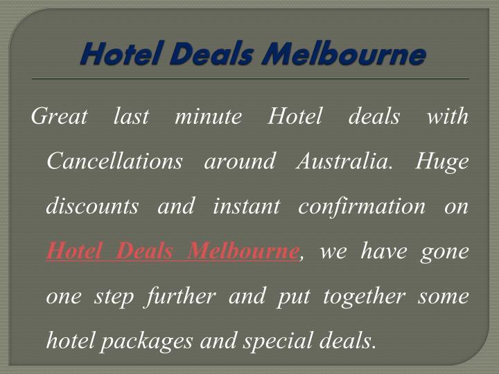 Hotel Deals Melbourne