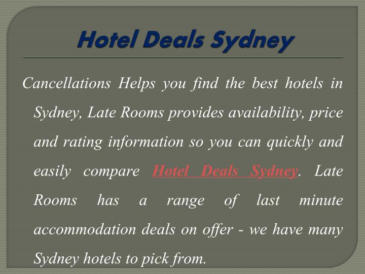 Hotel Deals Sydney
