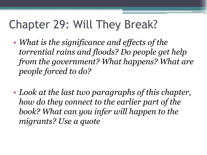 Chapter 29 will they break