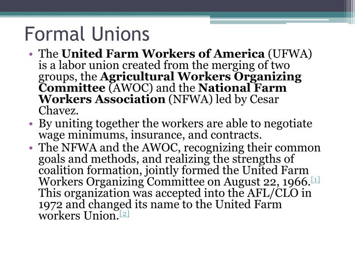 Formal Unions