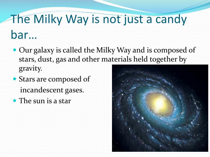 The Milky Way is not just a candy bar…