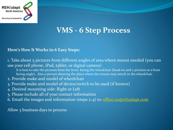 VMS - 6 Step Process