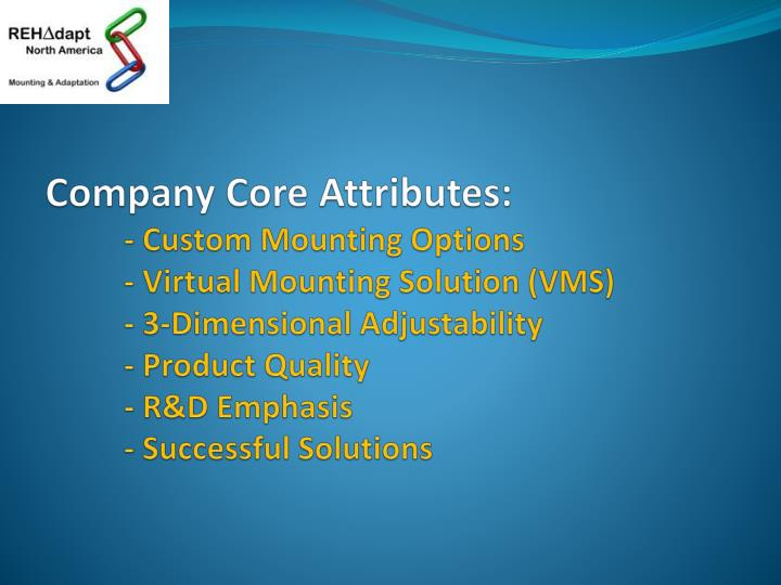 Company Core Attributes: