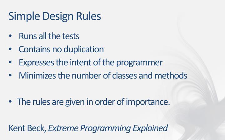 Simple Design Rules