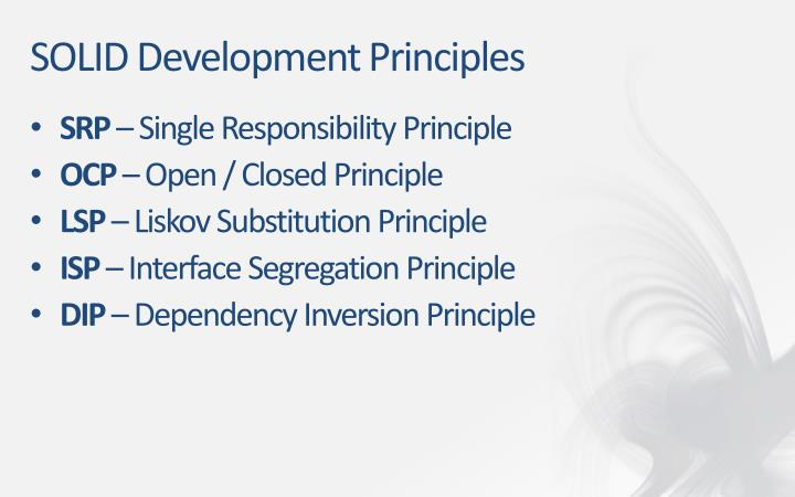SOLID Development Principles