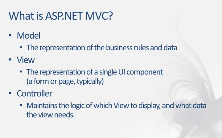 What is asp net mvc