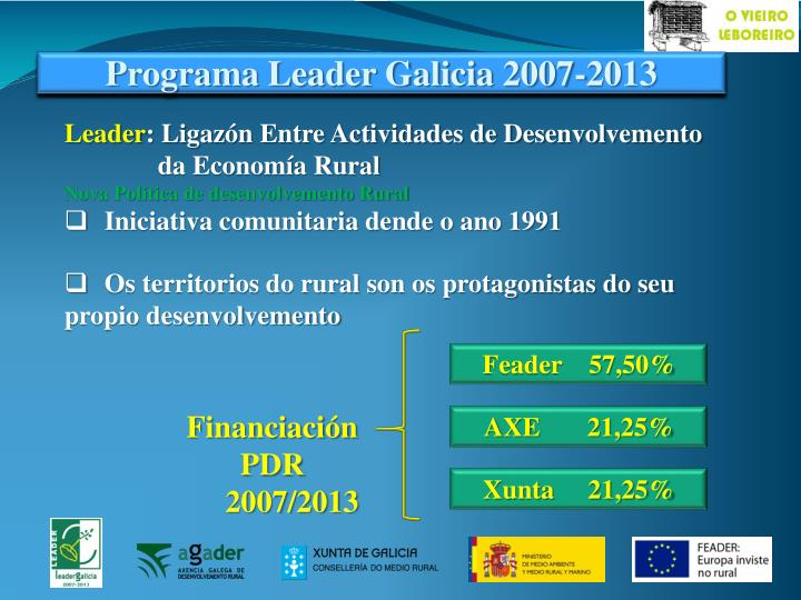 Programa Leader Galicia 2007-2013