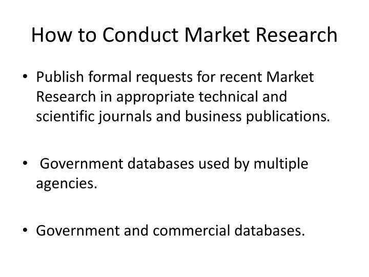 How to Conduct Market Research