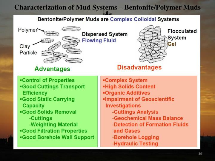Characterization of Mud Systems – Bentonite/Polymer Muds