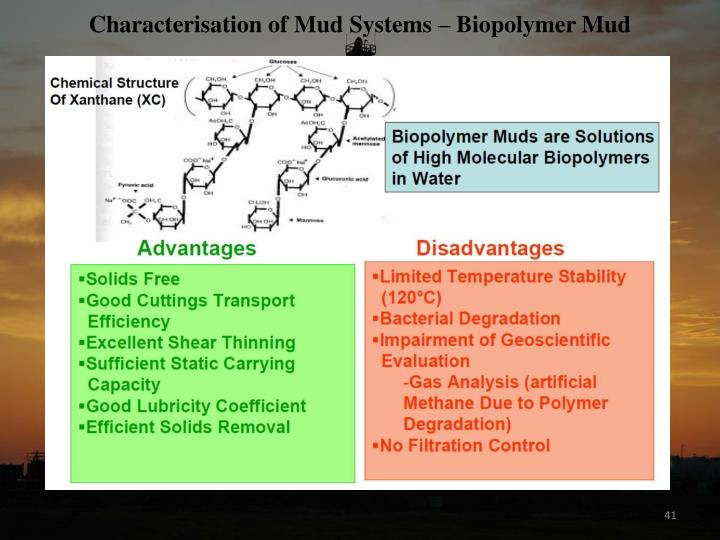 Characterisation of Mud Systems – Biopolymer Mud