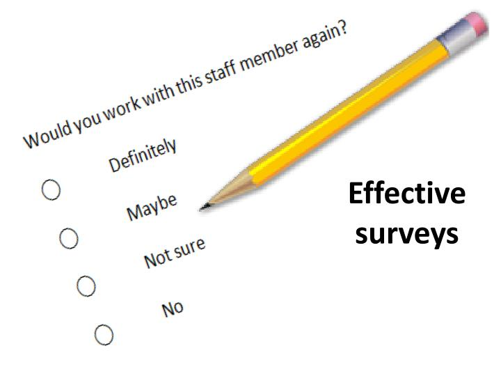 Effective surveys