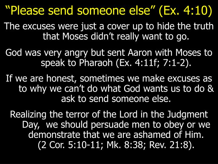"""Please send someone else"" (Ex. 4:10)"