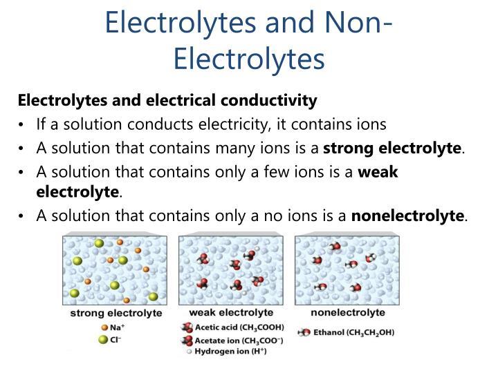 Electrolytes and Non-Electrolytes