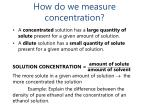 how do we measure concentration1