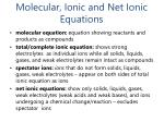 molecular ionic and net ionic equations