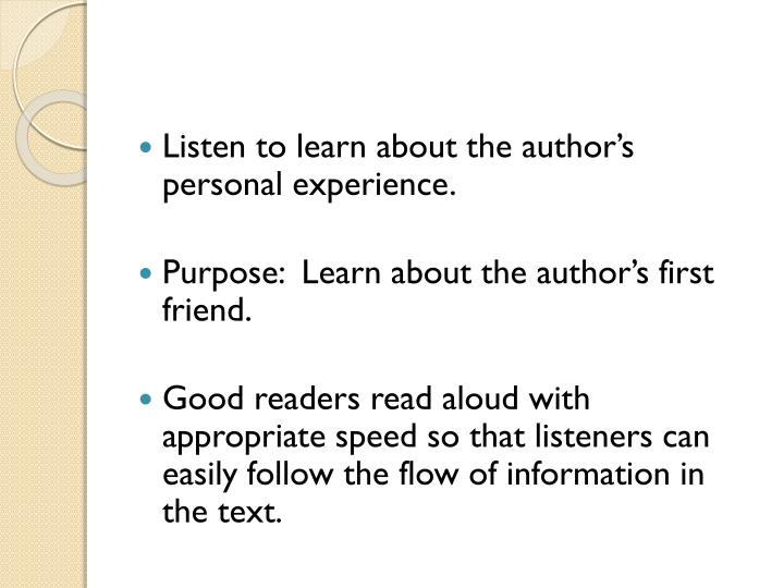 Listen to learn about the author's personal experience.