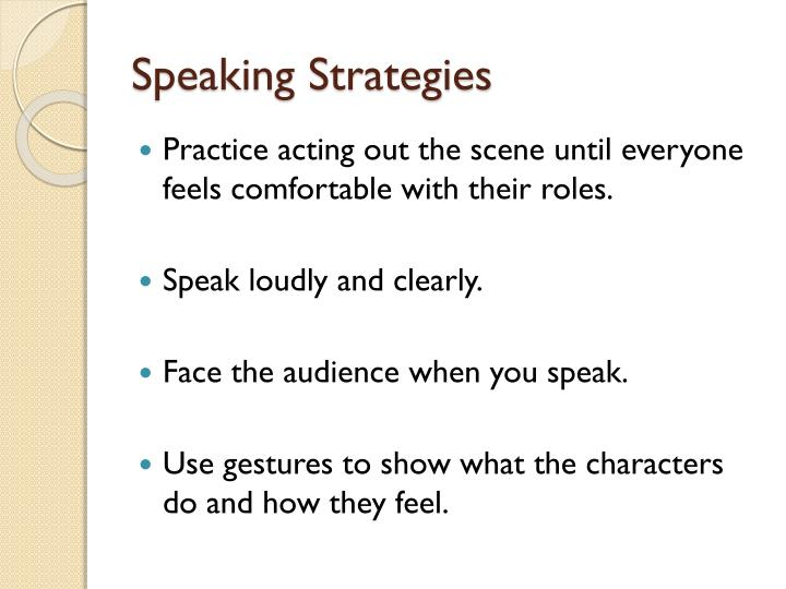 Speaking Strategies