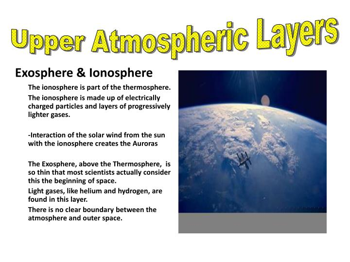Upper Atmospheric Layers
