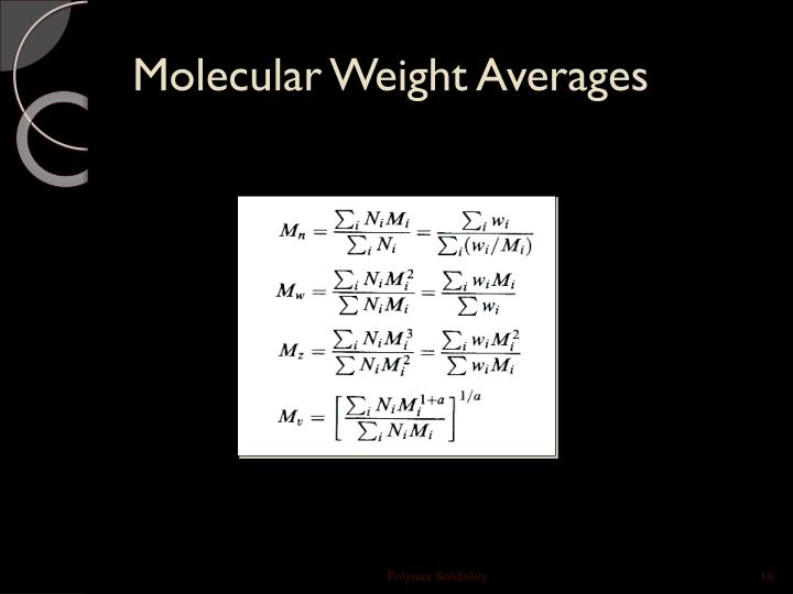 Molecular Weight Averages