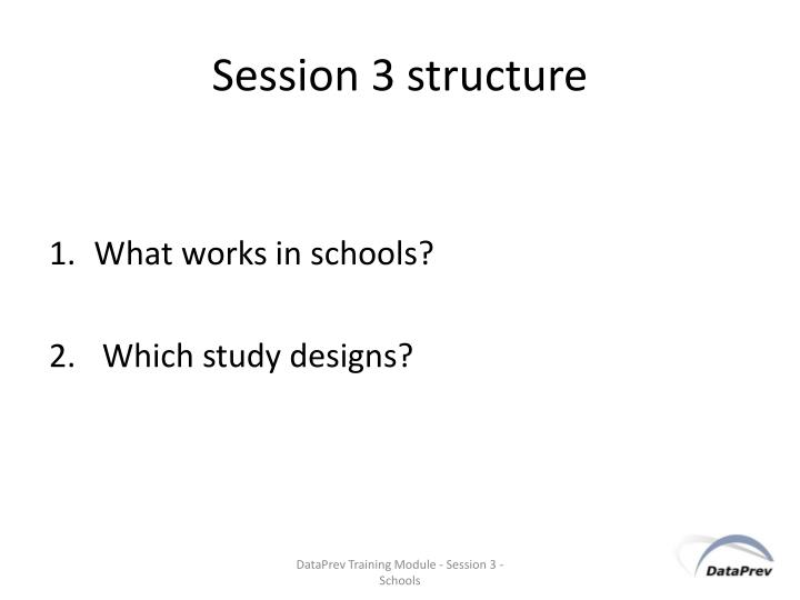 Session 3 structure