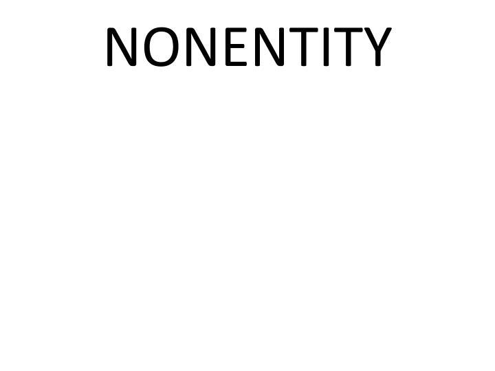 NONENTITY
