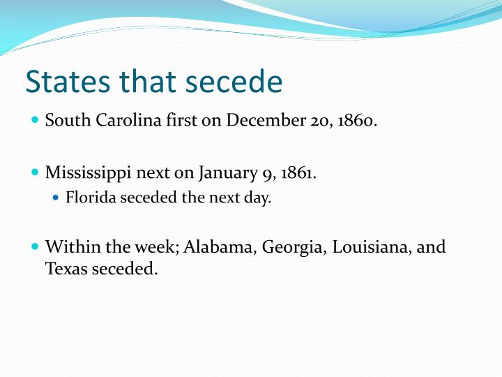 States that secede